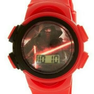 Star wars kids watch with tin can bank